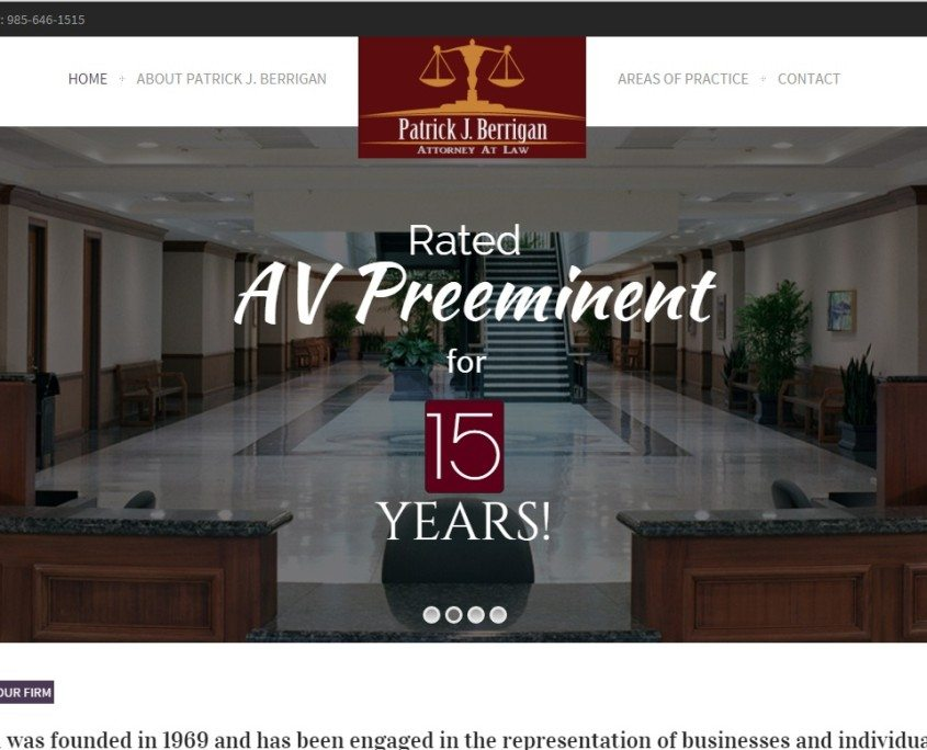 home slider for Lawyer Web Design with Special Effects