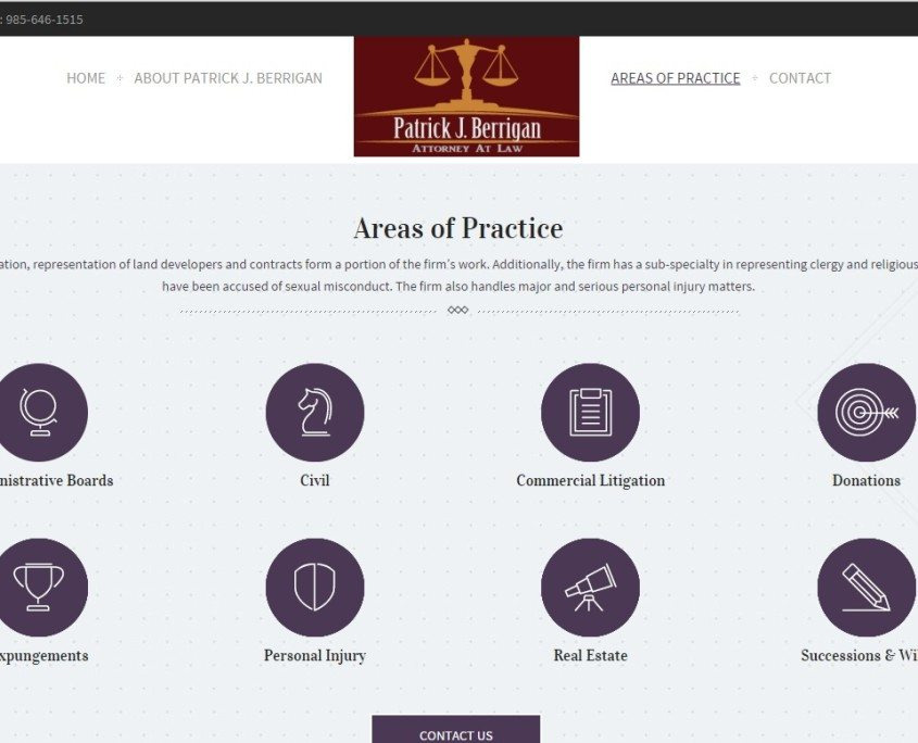 services page for Lawyer Web Design with Special Effects