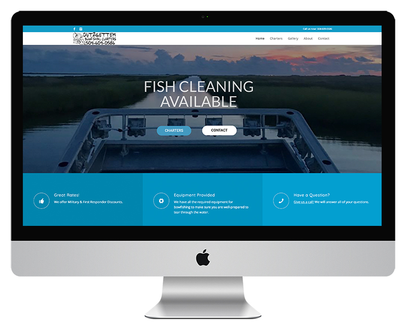 Charter Fishing Web Design
