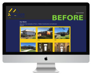 J. Walker Construction Website Before Picture