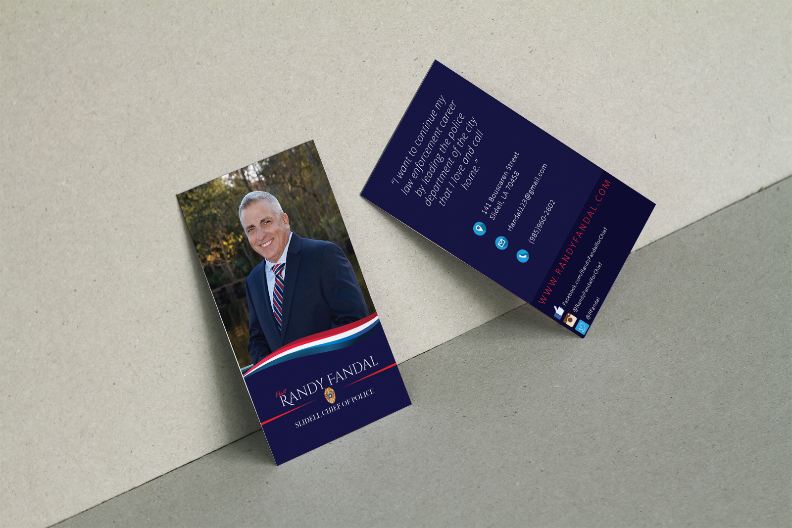 Business Card Randy Fandal Campaign