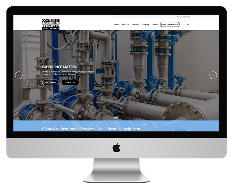 Control Instrument Services Web Design