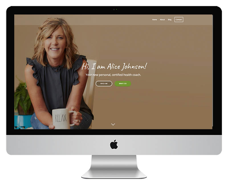 Health Coach Web Design