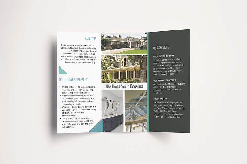 JWalker Construction Brochure