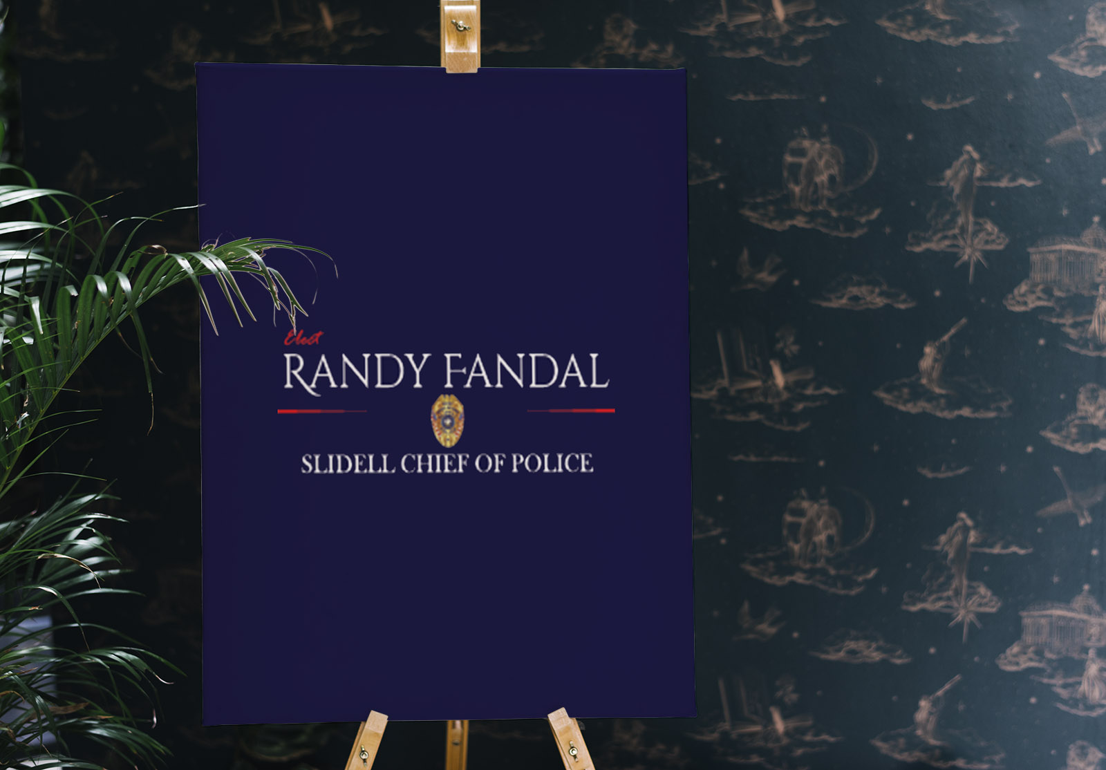 Logo Design - Randy Fandal for Slidell Chief of Police Campaign