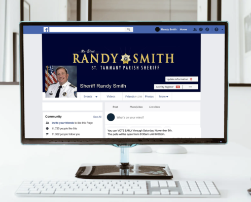 Social Media Management and Marketing for Sheriff Randy Smith