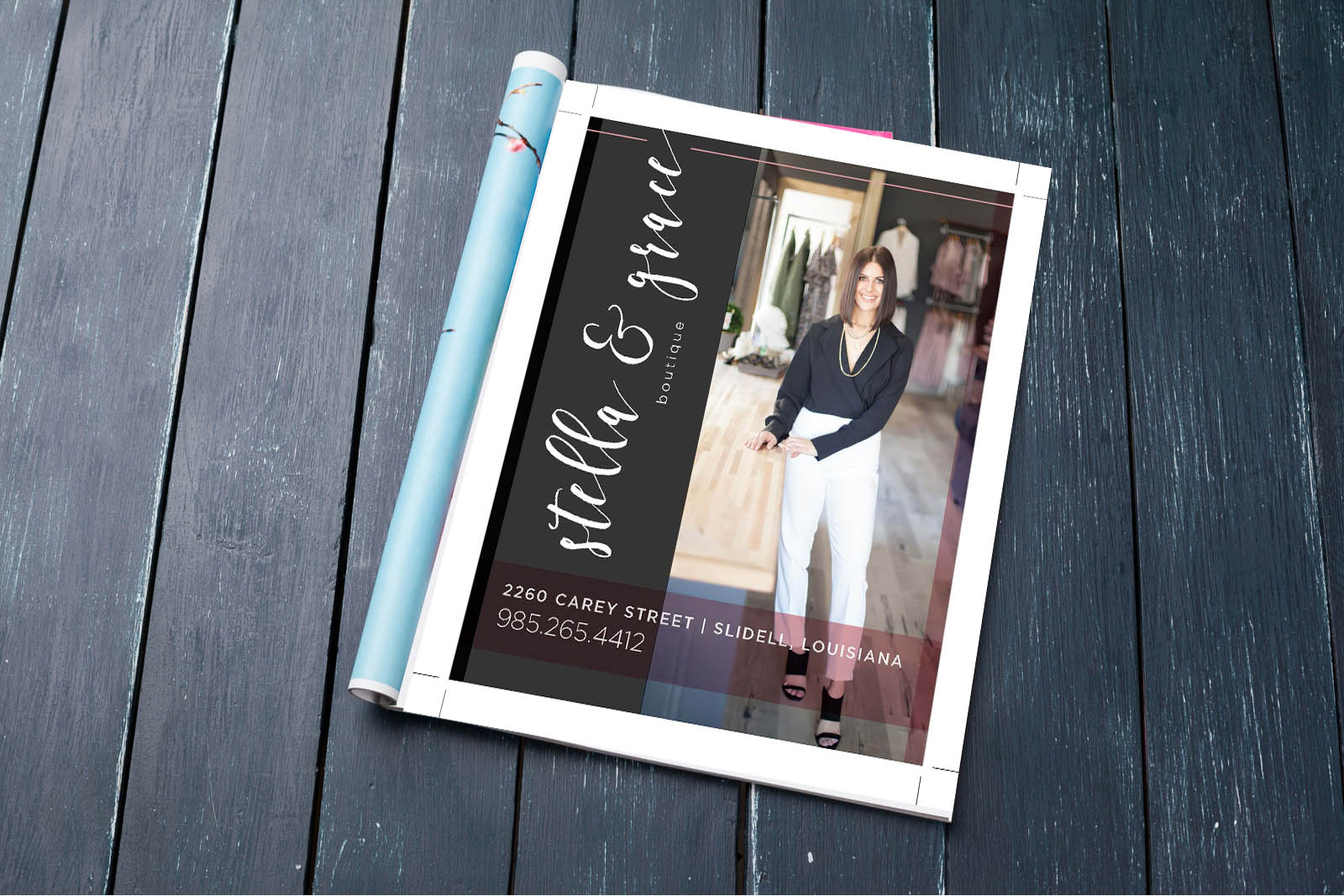 Stella and Grace Magazine Ad Design